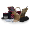 Picnic Time 213-87-406-000-0--PicnicTime, Somerset Picnic Basket, (Red & Black Buffalo Plaid Pattern)