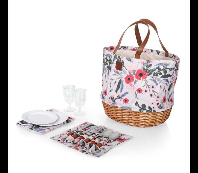 203-20-152-000-0--PicnicTime, Promenade Picnic Basket, (Floral Pattern)