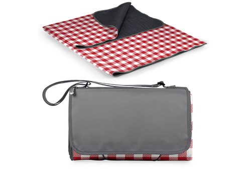 Picnic Time 920-00-300-000-0--PicnicTime, Blanket Tote XL - Red Check with Grey