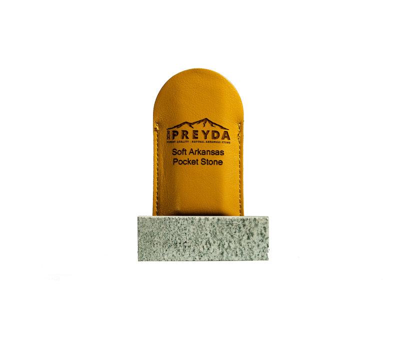 "30079--Preyda, Pocket Stone Soft Arkansas 3""x1""x3/8"""