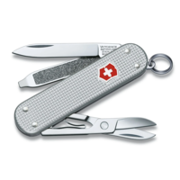 0.6221.26-033-X1--Victorinox, Swiss Army Classic SD Silver Alox Ribbed