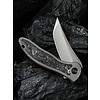 WE Knife Co. 2012CF-A--WEKnife, Gray Ti Integral Handle with Shredded Carbon Fiber Inlay