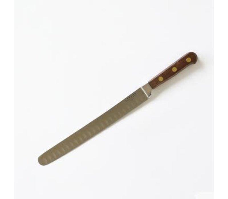 "39859--Lamson, WALNUT Forged 10"" Roast Knife, Kullenschliff Edge"