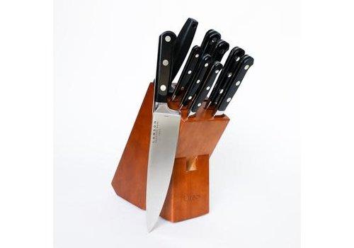 Lamson 39202--Lamson, MIDNIGHT Forged 10-Pc Knife Block Set, Walnut Block