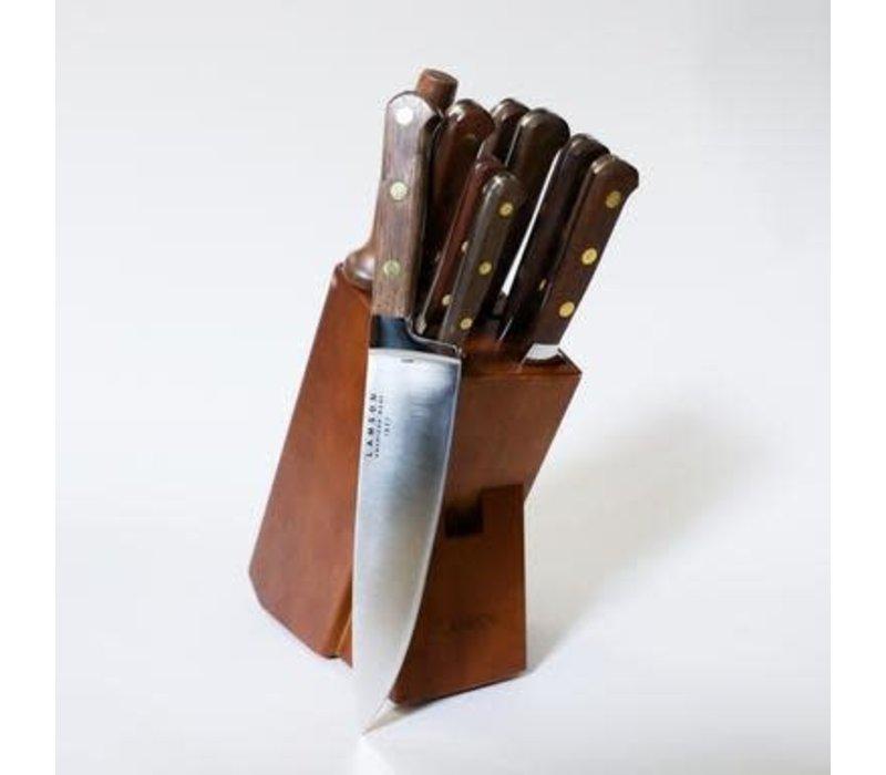 39802--Lamson, WALNUT Forged 10-Pc Knife Block Set , Walnut Block