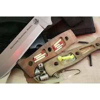 00843FG--KNIVES OF ALASKA, Defense Survival, D2, Tan G-10, Nylon