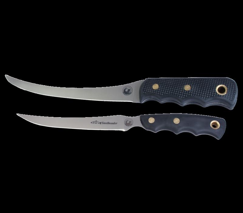 00092FG--KNIVES OF ALASKA, Fisherman's Combo, 440C, Black SureGrip
