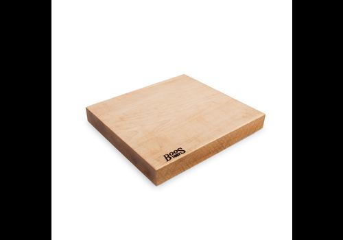"John Boos MPL-RST1312175 --JohnBoos,  Maple Rustic-Edge  Design Cutting Board 13X12X1.75 MPL-FACE GR-RUSTIC EDGE-   REV- ""BOOS 1887"" BRANDING- FAST TRACK"