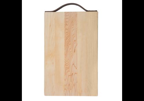 JK. Adams KLTN-1409--JKAdams, Maple Rectangle Board with Leather Handle