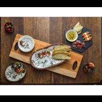 GRFT-2710--JKAdams, Cherry Cheese Server with Double Handles 27 x 10 x 1