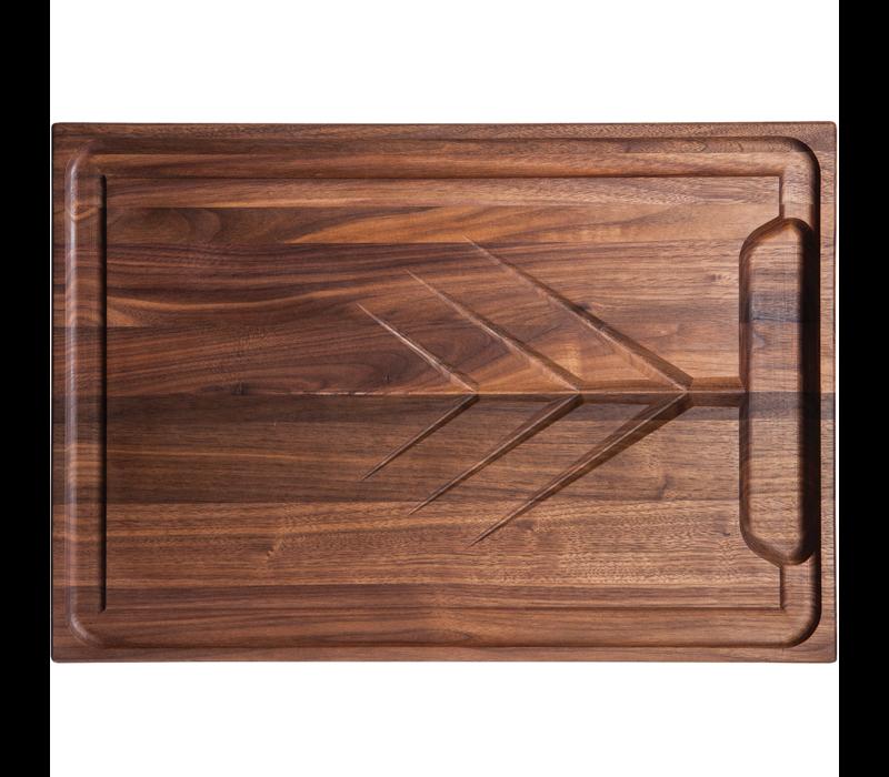 """CRV-2014-W--J.K. Adams, Walnut Cutting Board w/ Clear Teak Oil Finish, 20""""x14""""x1"""""""