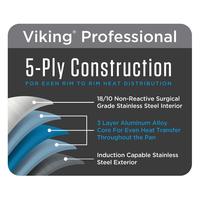 "4015-1N12S--Viking Professional 5-Ply 12"", 30.5cm Eterna Non-Stick Fry Pan, Satin Finish"