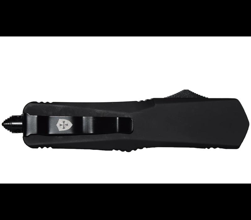 S-BR-13-1--Templarknives, Small Black Rubber Dagger Black