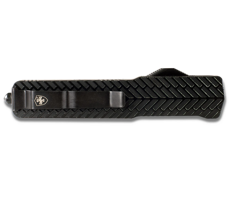 MZ-HBG-32-1--TemplarKnives, Slim Zinc Herringbone Drop Black D2