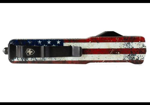 Templar MZ-WUS-12-1--TemplarKnives, Slim Zinc Wood US Flag Dagger Black D2