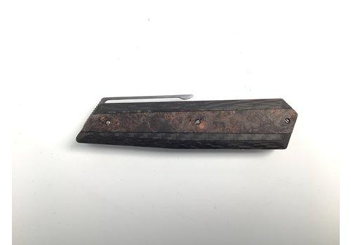 Maserin 376/RN--Maserin, AM4 Knife M390 cm.22 Carb/Black Wooden Handle