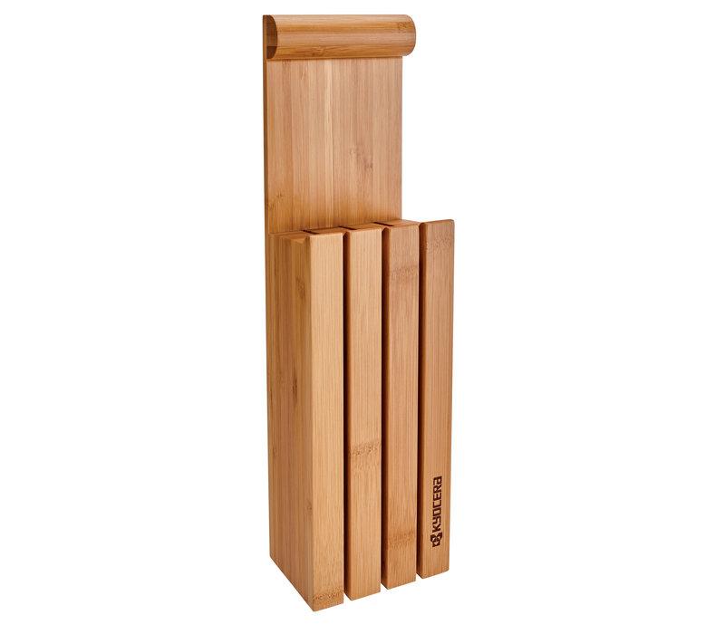 121958--Kyocera, 3-Slot Bamboo Knife Block