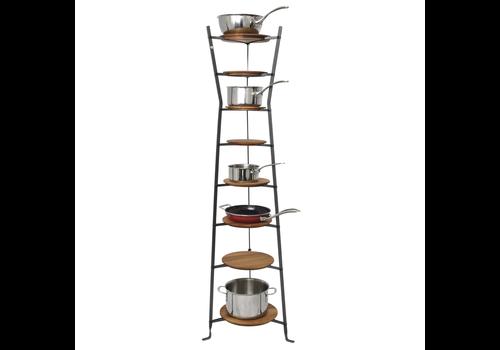 Enclume E8THG--Enclume, 8-Tier Hourglass Stand w/ Wooden Shelves