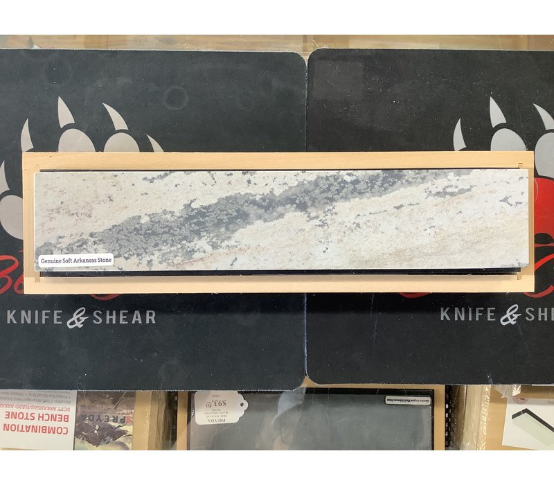 "30070--Preyda, Combination Bench Stone, Soft Arkansas/Hard Black Arkansas, 10""x2""x1"""
