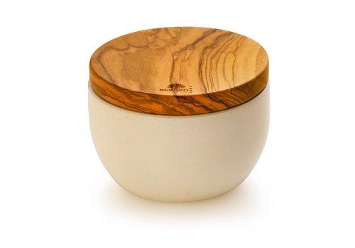 Berard BER41170--Browne, Berard Round Salt Keeper Millenari White 10x7cm