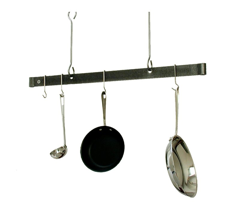 "PR1860--Enclume, 60"" Offset Hook Ceiling Bar Stainless Steel"