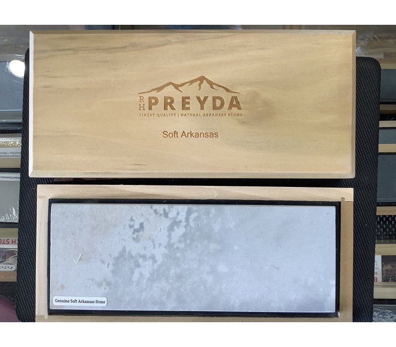 "30011--Preyda, Bech Stone- Soft Arkansas, in a Box 8""x3""x1/2"""