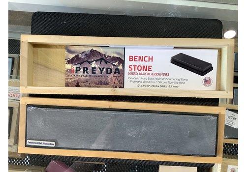 """RH Preyda 30960--Preyda, Hard Black Arkansas Bench Stone 10""""x2""""x1/2"""""""