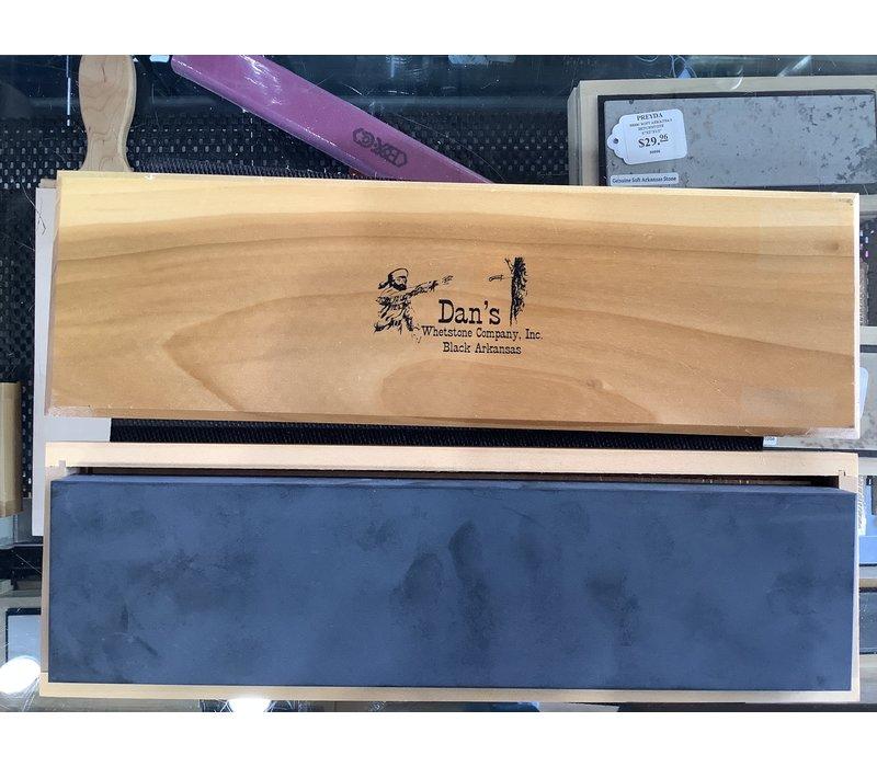 Dan's Whetstone Arkansas Black Bench Stone 12x3x1 w/ Wooden Box BAB-123-C