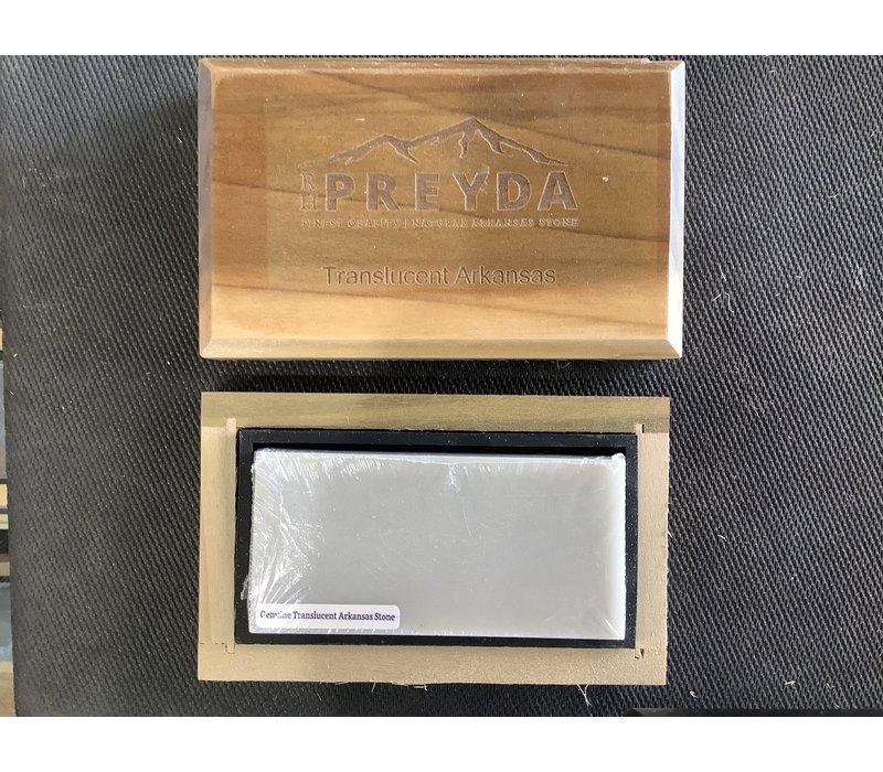 """30061--Preyda, Translucent Arkansas Bench Stone 4""""x2""""x1/2"""""""