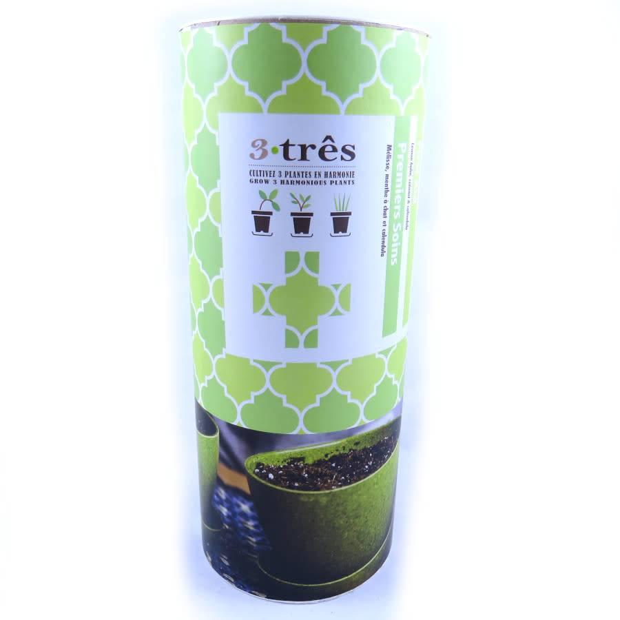 Mano Verde 3-três garnitures comestibles