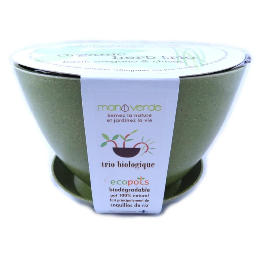 Mano Verde Trio d'aromates biologiques