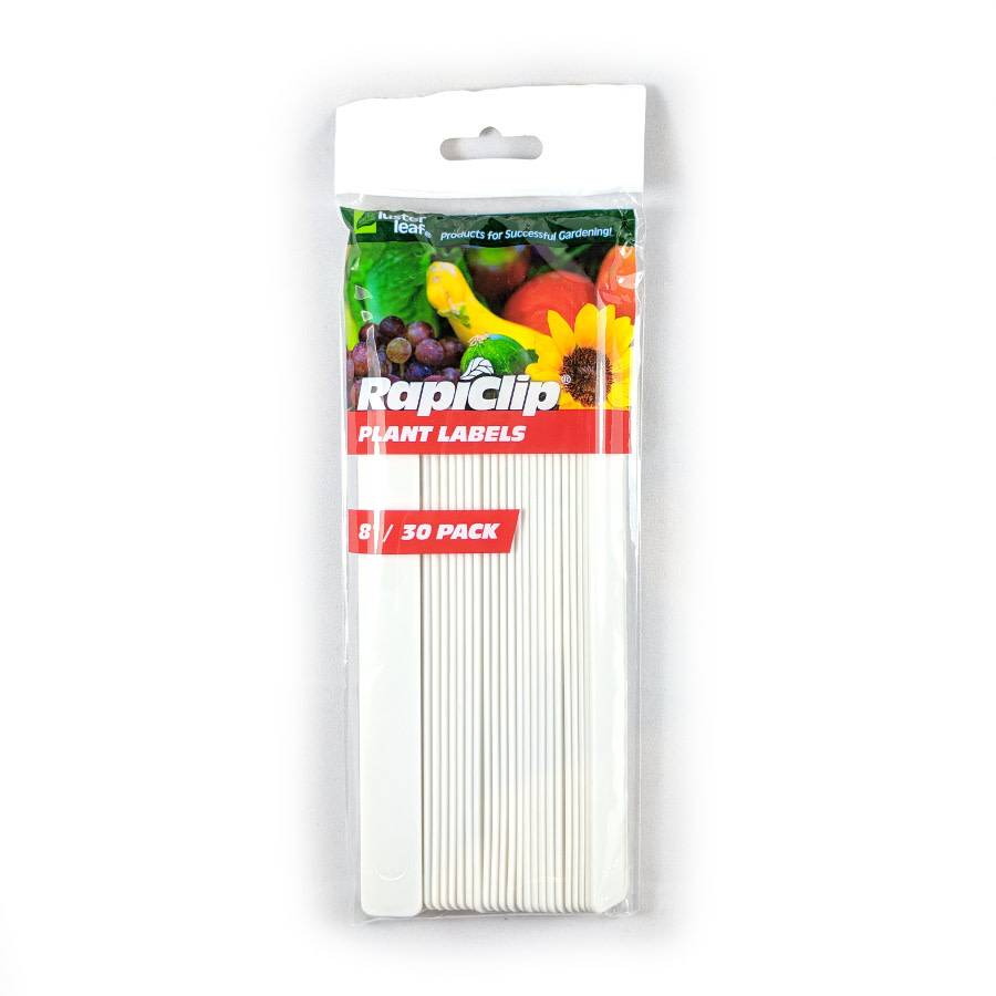 """Étiquette Plastique Rapiclip 8"""" Pqt30"""