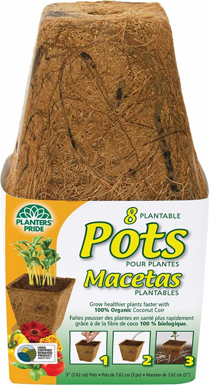 Planter's Pride Pot 3'' en fibre de coco (8/pqt)