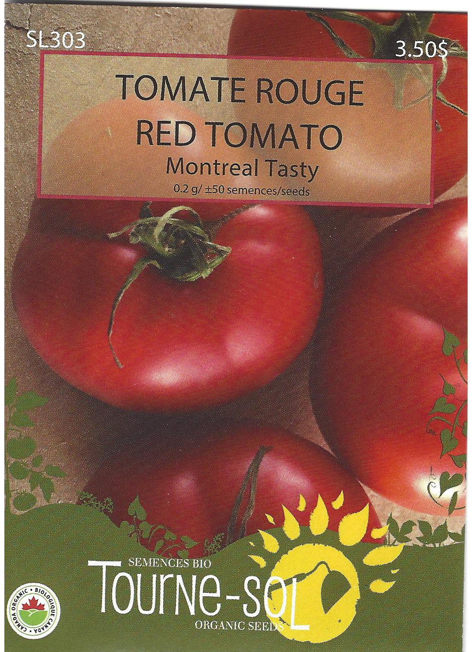 Semence Tourne-sol Tomate rouge Montreal Tasty