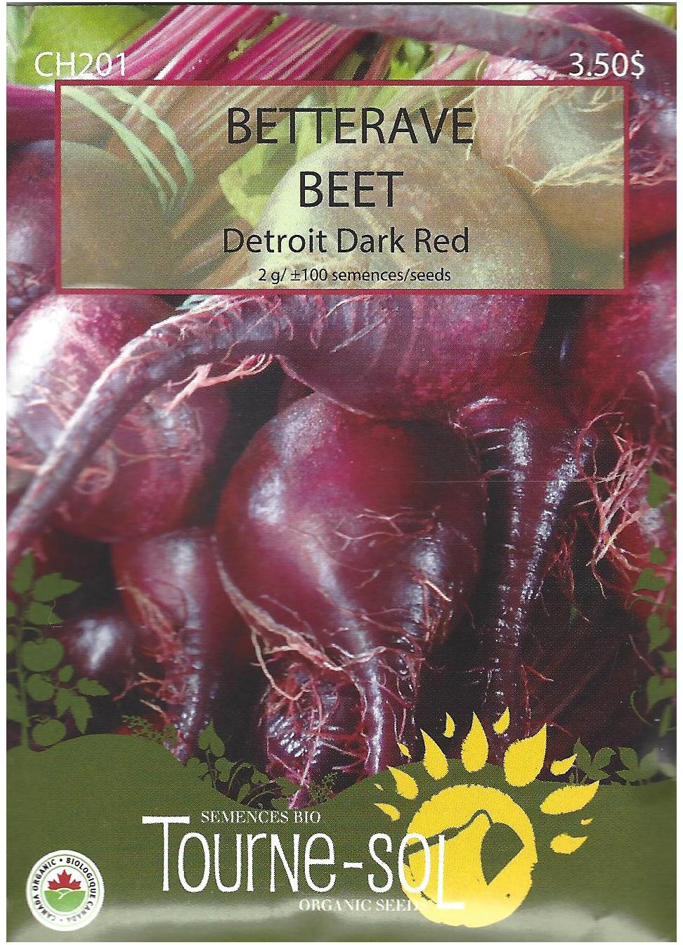 Semence Tourne-sol Bettrave Detroit Dark Red