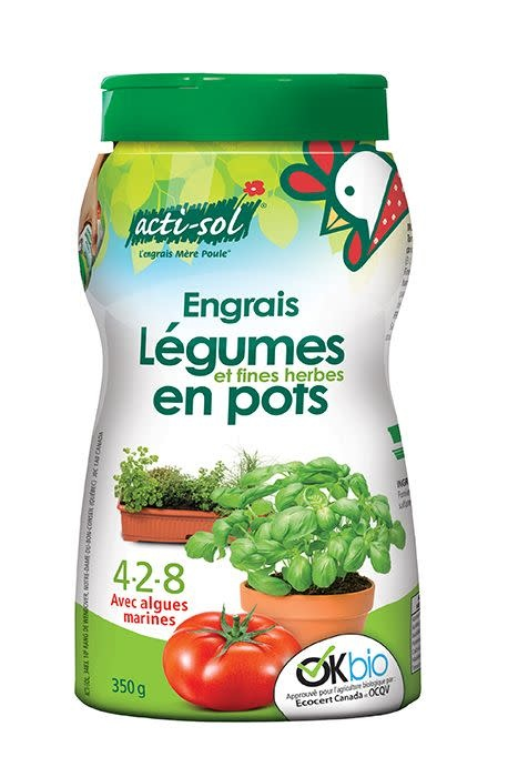 Acti-Sol Acti-sol Légumes et fines herbes en pots 4-2-8 (350 g)