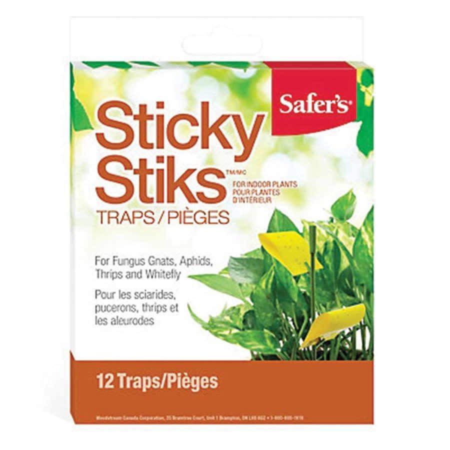 Safer's Sticky Sticks Piège collant jaune
