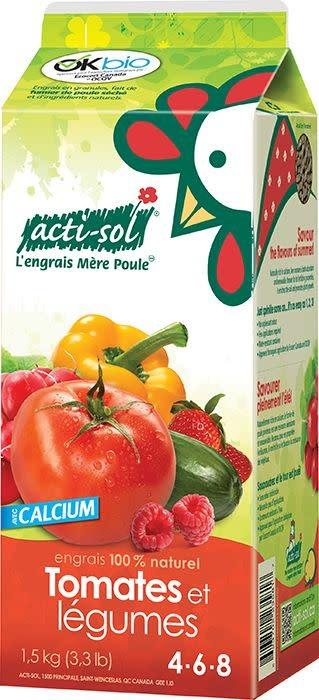 Acti-Sol Acti-sol Tomates et légumes 4-6-8 (1,5 kg)