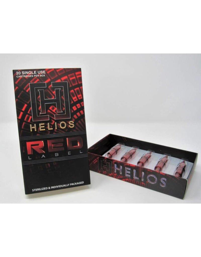 Helios Helios 9 Round Shader Needle Cartridges (20/ box) long taper .35mm diameter H-9RS