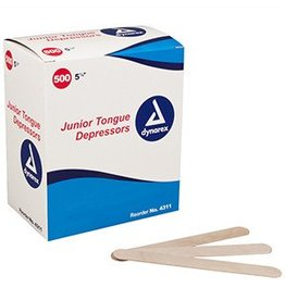 """Tongue Depressors 6"""" Non-sterile 500/box single"""