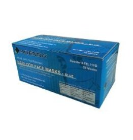 Adenna Earloop Face Mask Blue, Latex Free, Level #2 (50/box) single