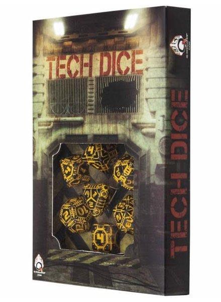 Black-Orange Tech Dice Set