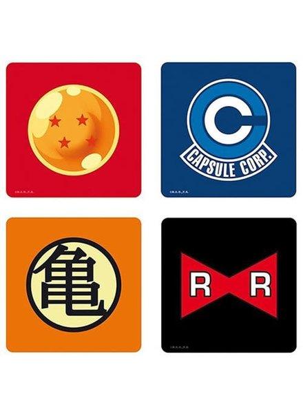 Dragon Ball Z Symbols 4-Pack Coasters Set