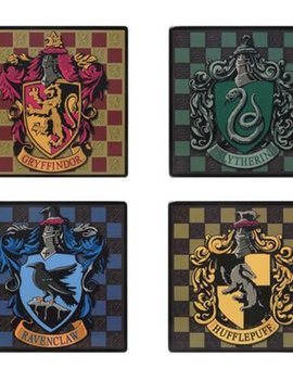 Harry Potter House Crests Square Coaster 4-Pack