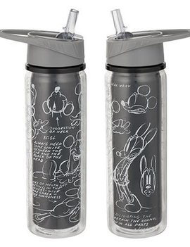 Disney Mickey Mouse Black & White 18 oz. Tritan Water Bottle