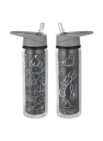 Disney Mickey Mouse Black & White 18 oz. Tritan Water Bottle