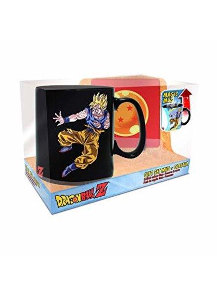 Dragon Ball Z Goku vs. Buu Heat-Change Mug and Coaster Gift Set