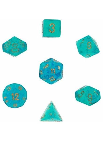 Chessex: Borealis Teal/Gold 7-Die Set