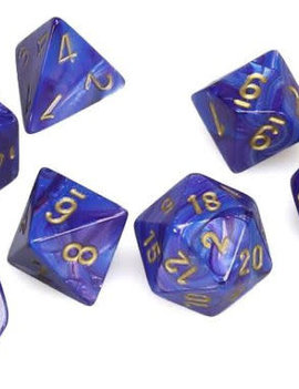 Chessex: Lustrous Purple/Gold 7-Die Set