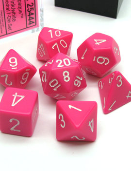 Chessex: Opaque Pink With White Sets